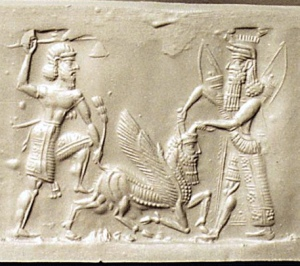 gilgamesh_enkidu_slaying_the_divine_bull